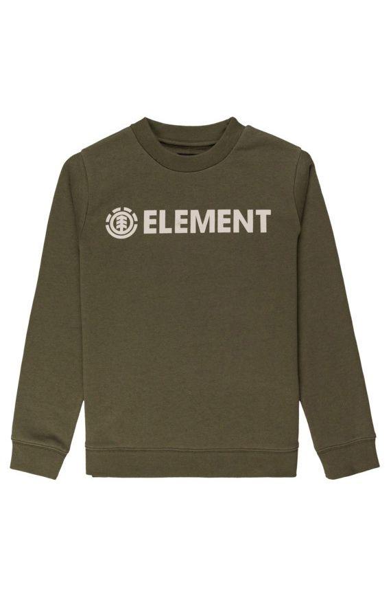 Element Crew Sweat BLAZIN CREW BOY Army
