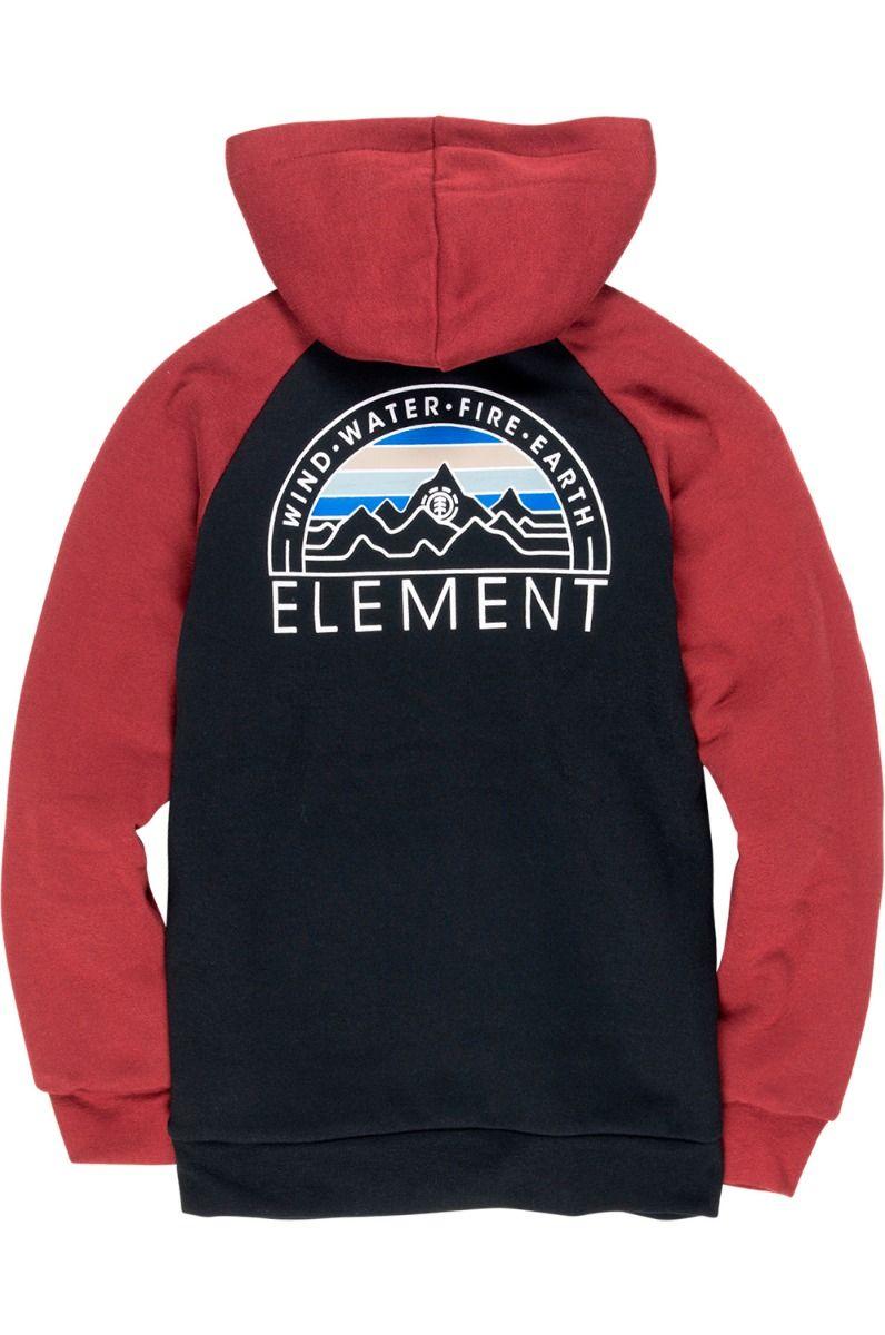 Element Sweat Zip Hood BARRY Flint Black
