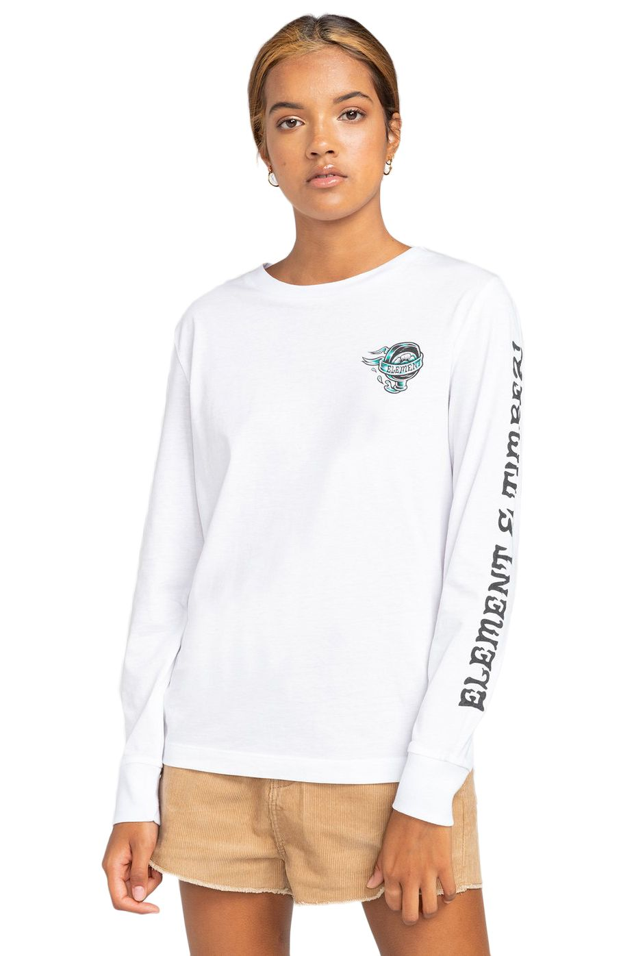 Element L-Sleeve ANTIDOTE WO LS TIMBER COLLECTION Optic White