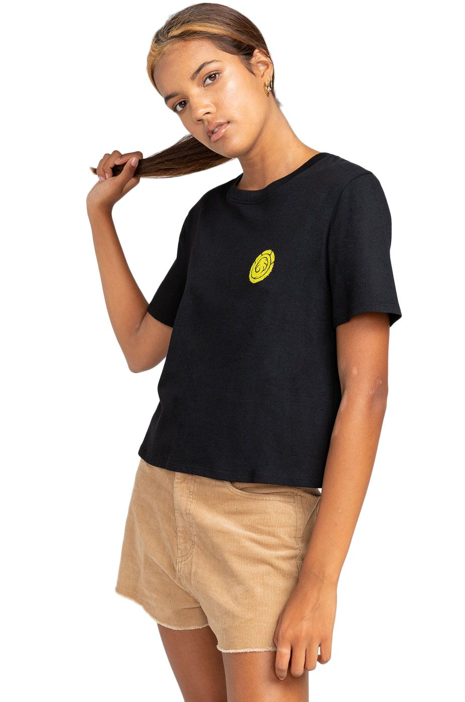 Element T-Shirt THE VISION CROP SS TIMBER COLLECTION Black