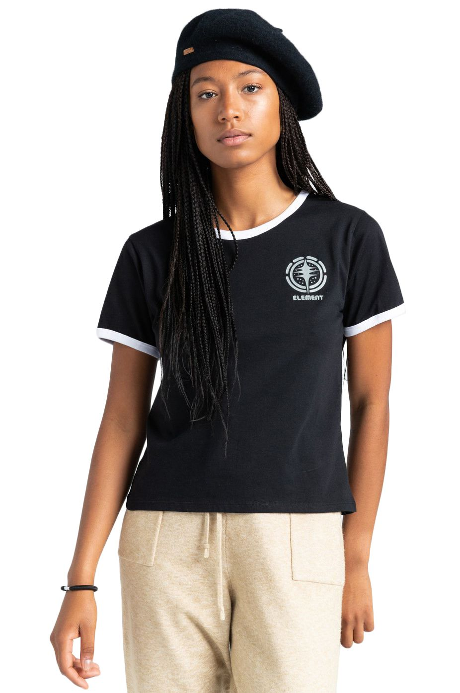 T-Shirt Element ROTATION SS W TIMBER COLLECTION Flint Black