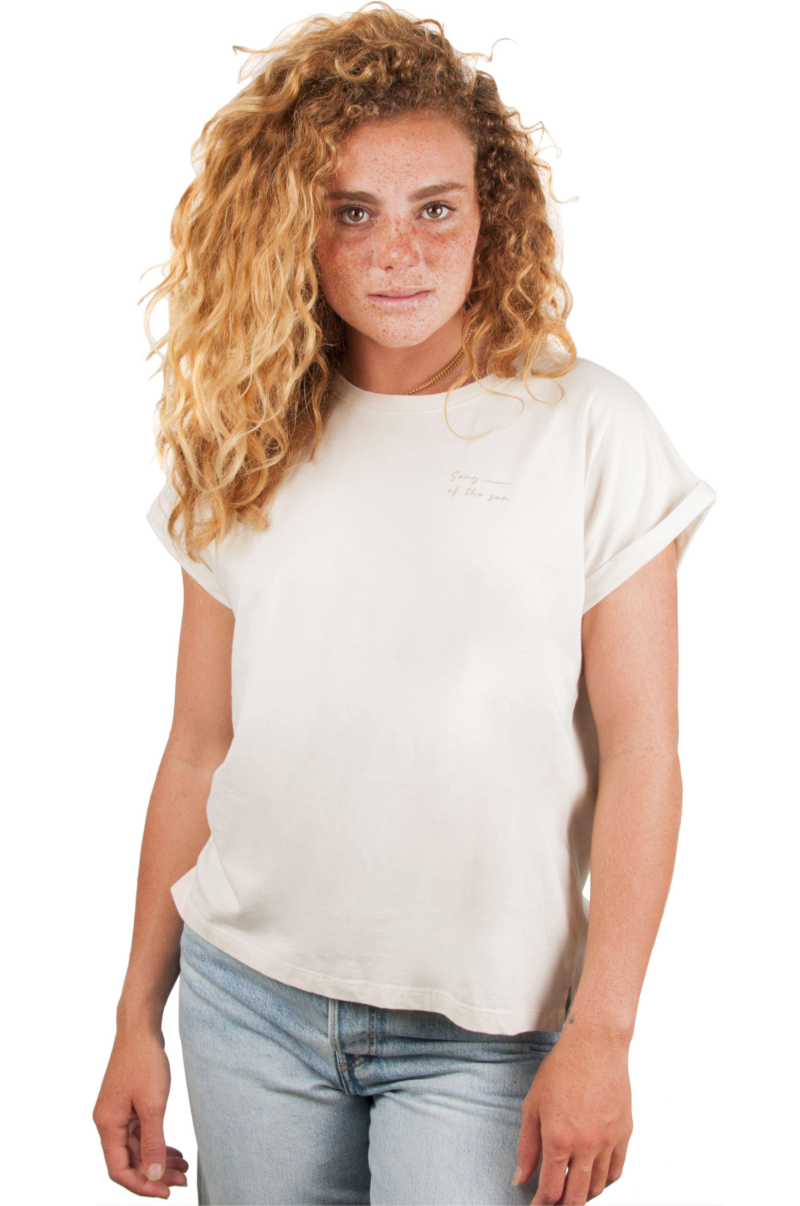 T-Shirt Ericeira Surf Skate SALTY VIBES Beige