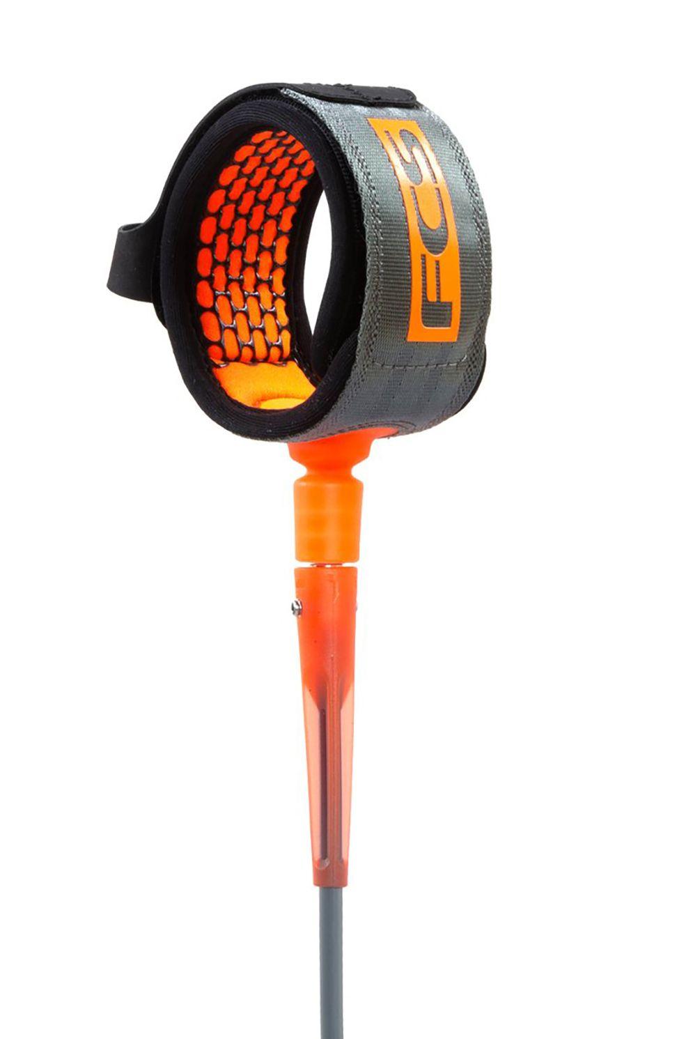 Leash Fcs 6' COMP ESSENTIAL Charcoal/Blood Orange