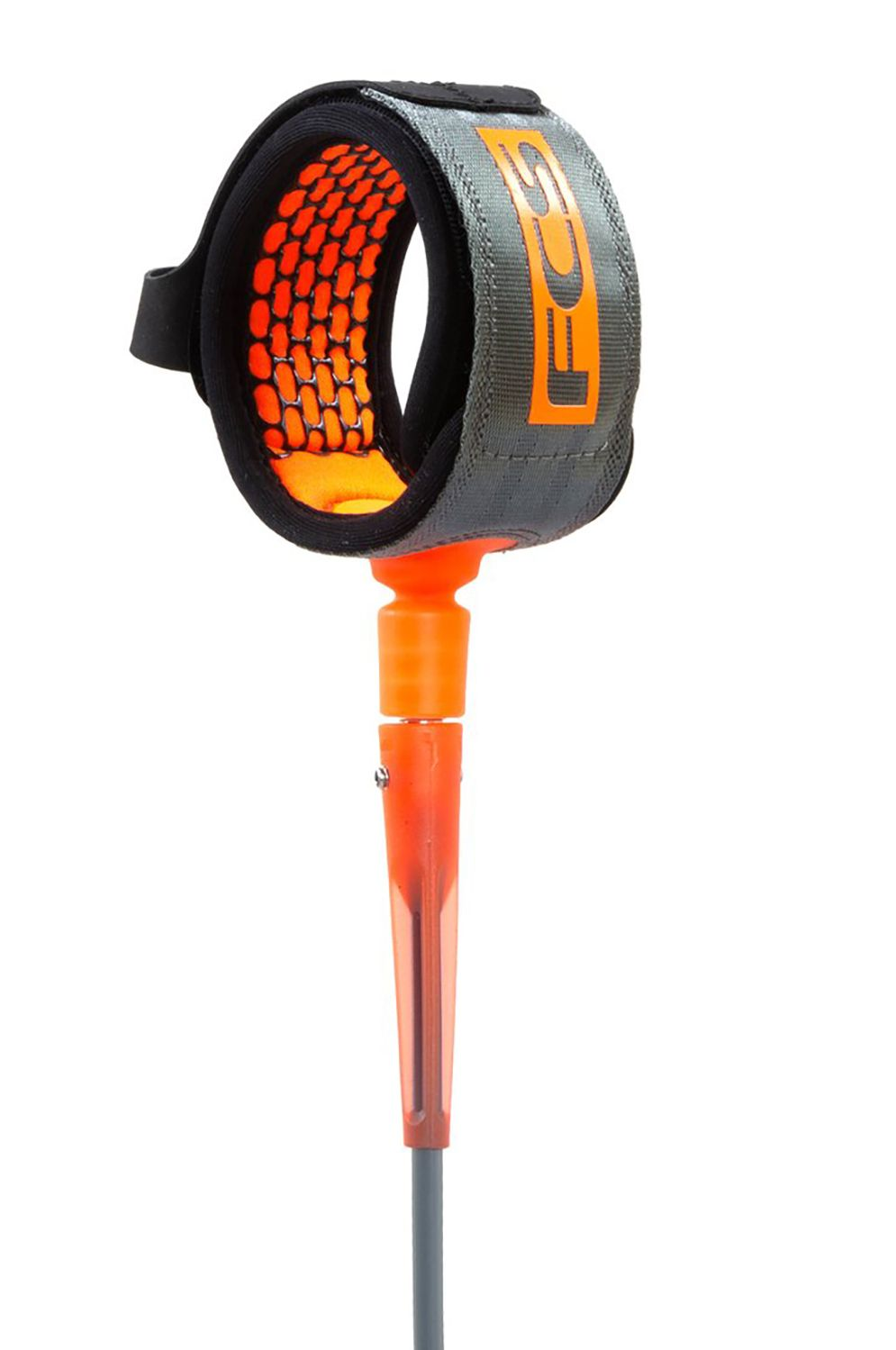 Leash Fcs 8' ALL ROUND ESSENTIAL Charcoal/Blood Orange