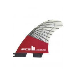 Quilha Fcs II ACCELERATOR PC CARBON RED MOOD MEDIUM TRI RETAIL FINS Tri
