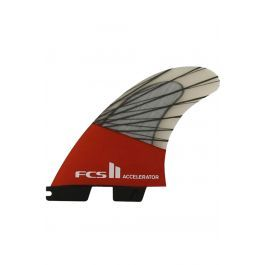 Quilha Fcs II ACCELERATOR PC CARBON RED MOOD SMALL TRI Tri FCS II S
