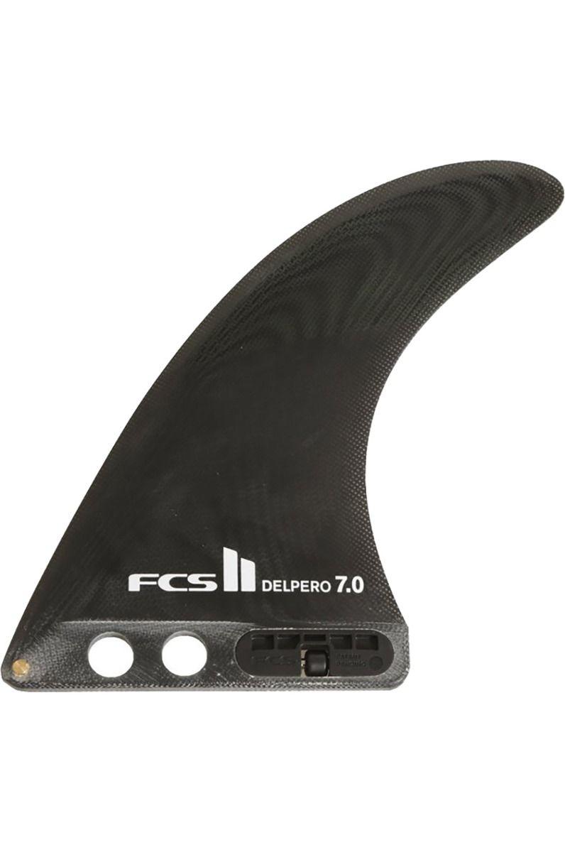 "Fcs Fins 7"" FCS II DELPERO PG BLACK Single FCS II 7"""