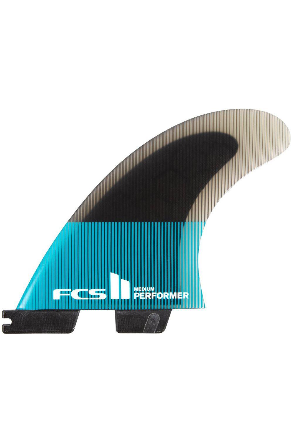 Fcs Fins II PERFORMER PC SMALL TEAL/BLACK QUAD Quad FCS II S