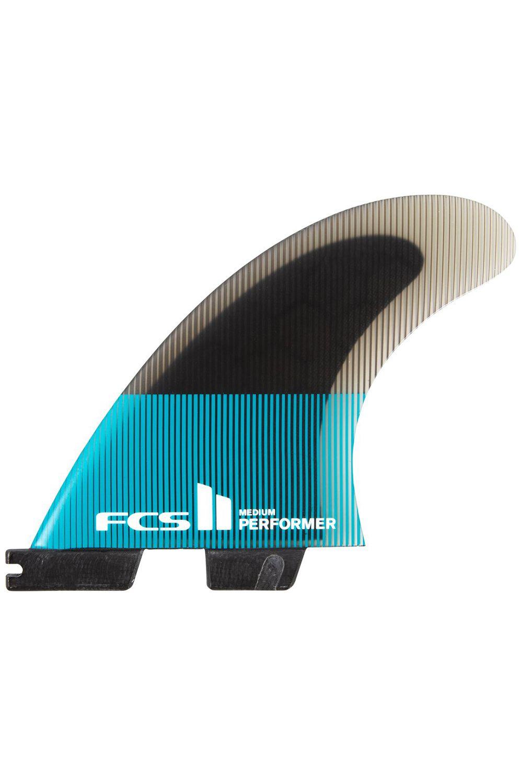 Fcs Fins II PERFORMER PC MEDIUM TEAL/BLACK QUAD Quad FCS II M