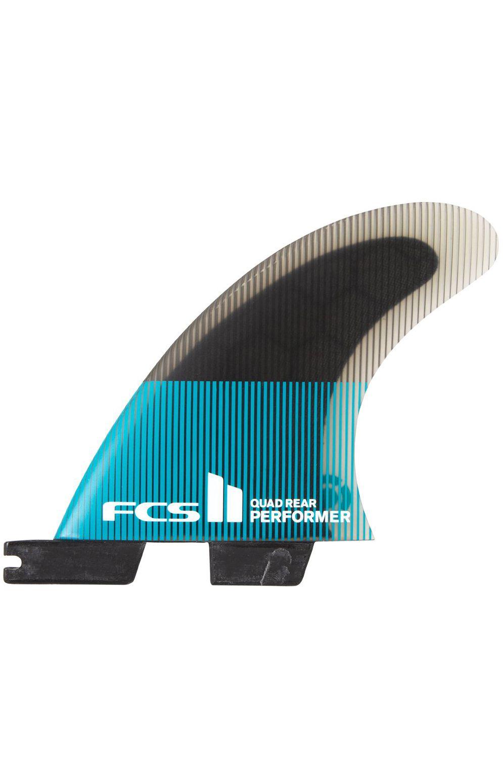 Fcs Fins II PERFORMER PC MEDIUM TEAL/BLACK QUAD REAR Quad Rear FCS II M