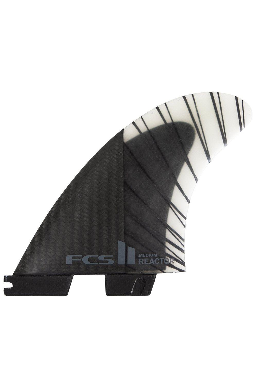 Fcs Fins II REACTOR PC CARBON MEDIUM BLACK/CHARCOAL TRI Tri FCS II M