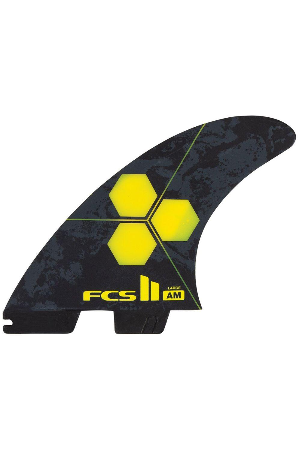 Fcs Fins II AM PC LARGE YELLOW TRI Tri FCS II L