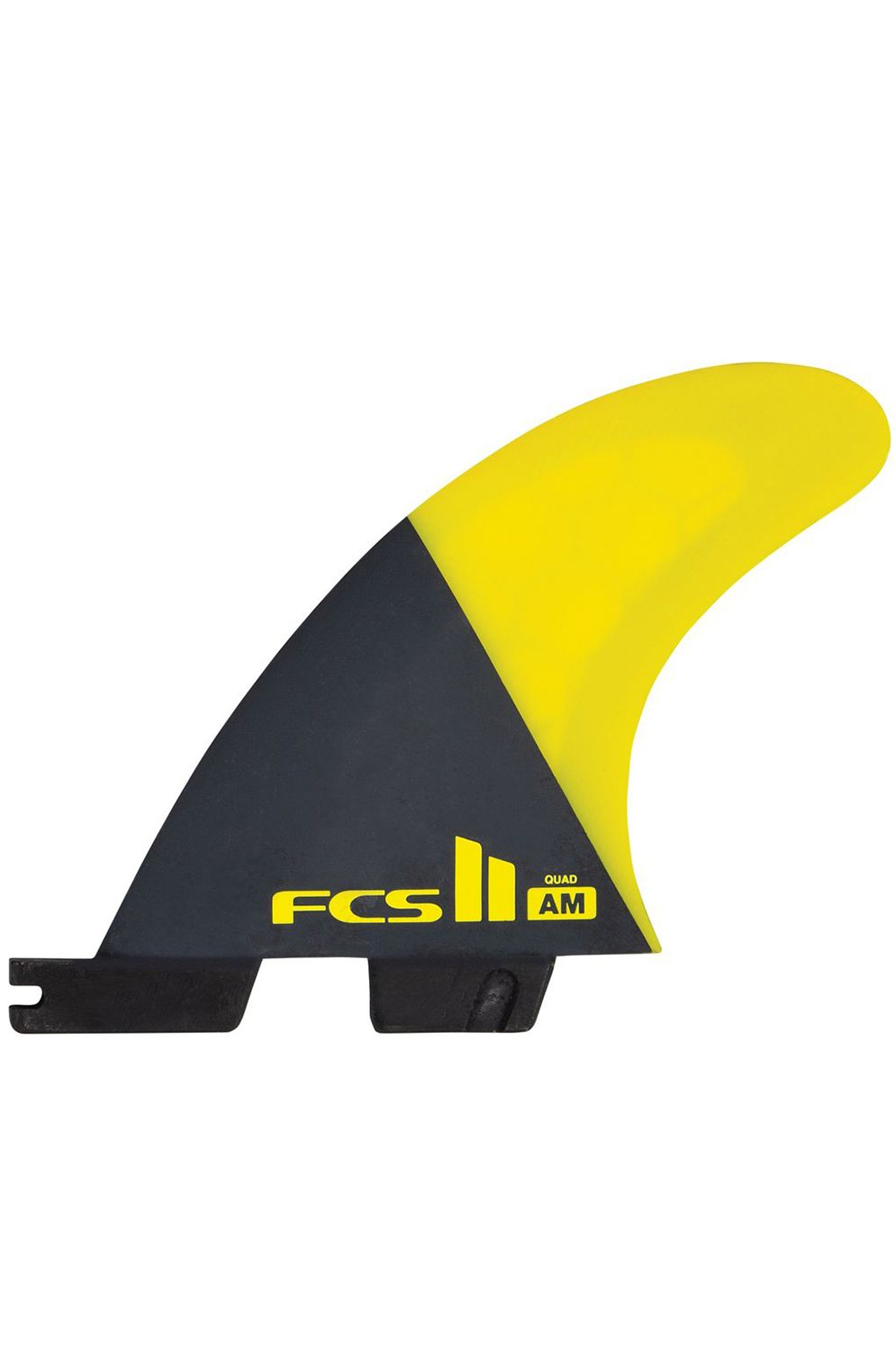 Quilha Fcs II AM PC LARGE YELLOW TRI-QUAD Tri Quad FCS II L