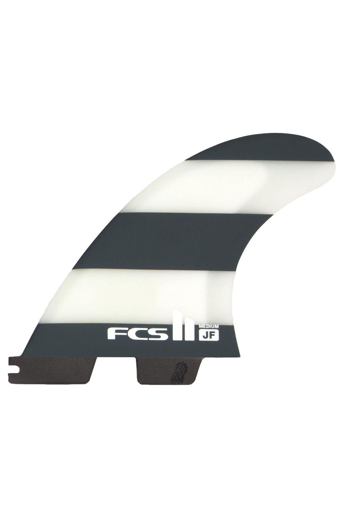 Fcs Fins II JF PC LARGE BLACK/WHITE TRI Tri FCS II L