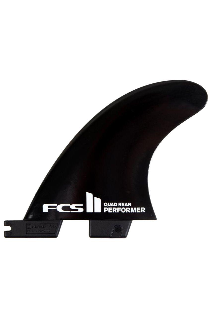 Fcs Fins II PERFORMER BLACK MEDIUM QUAD REAR Quad Rear FCS II M