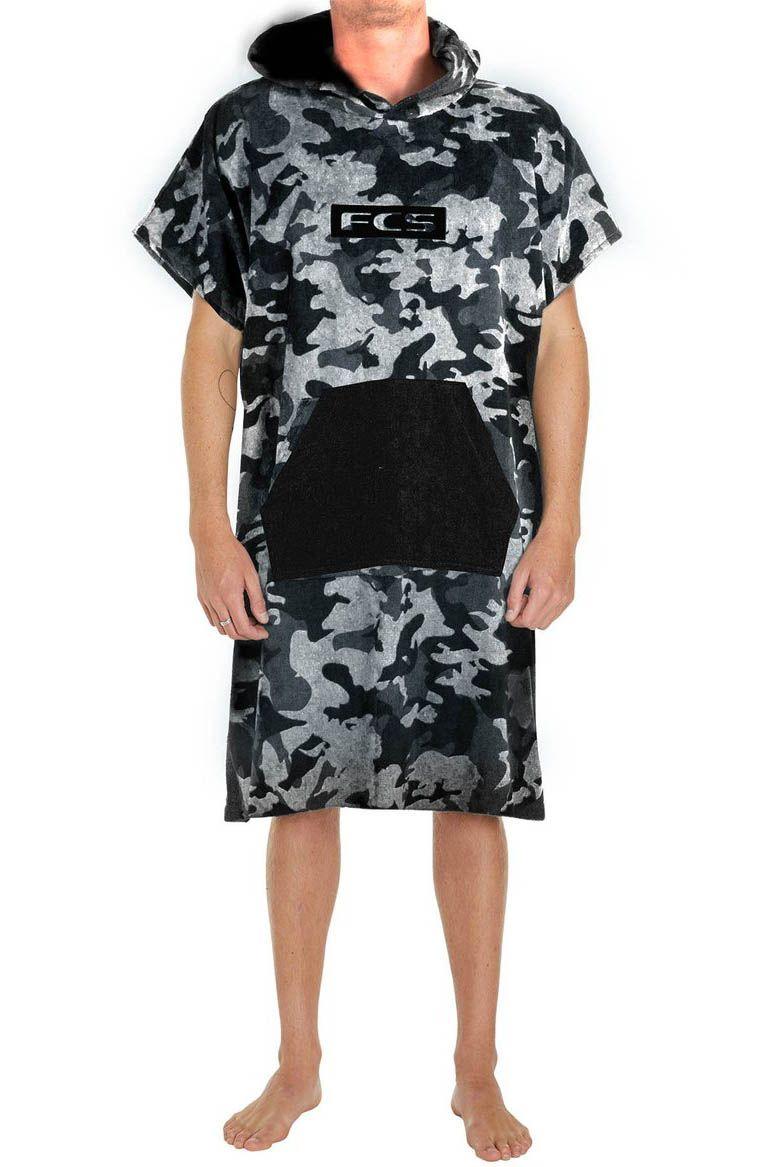 Fcs Poncho JUNIOR TOWEL PONCHO Grey Camo/Black