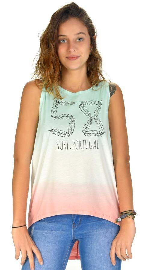 TShirt Alças 58 Surf BIRD Coral Cloud