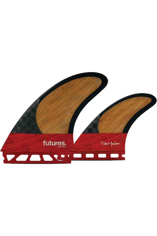 Quilha Future Fins MACHADO TWIN RED/BAMBOO Twin/Bonzer Futures Unico