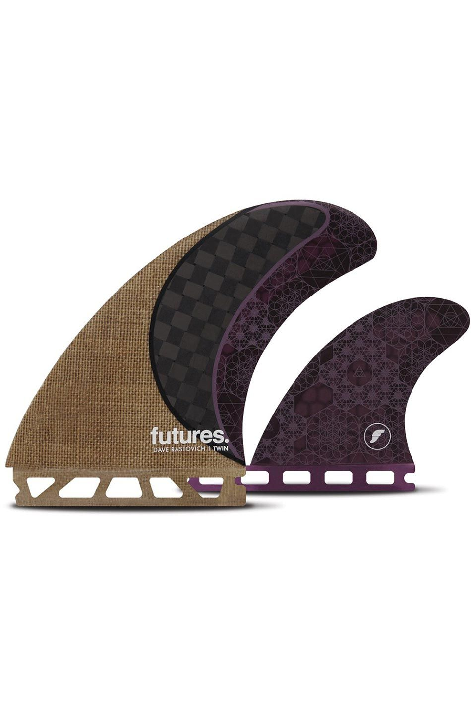 Quilha Future Fins RASTA TWIN JUTE/CARBON/PURPLE Twin/Bonzer