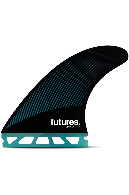 Quilha Future Fins R6 TEAL/BLACK Tri Futures M