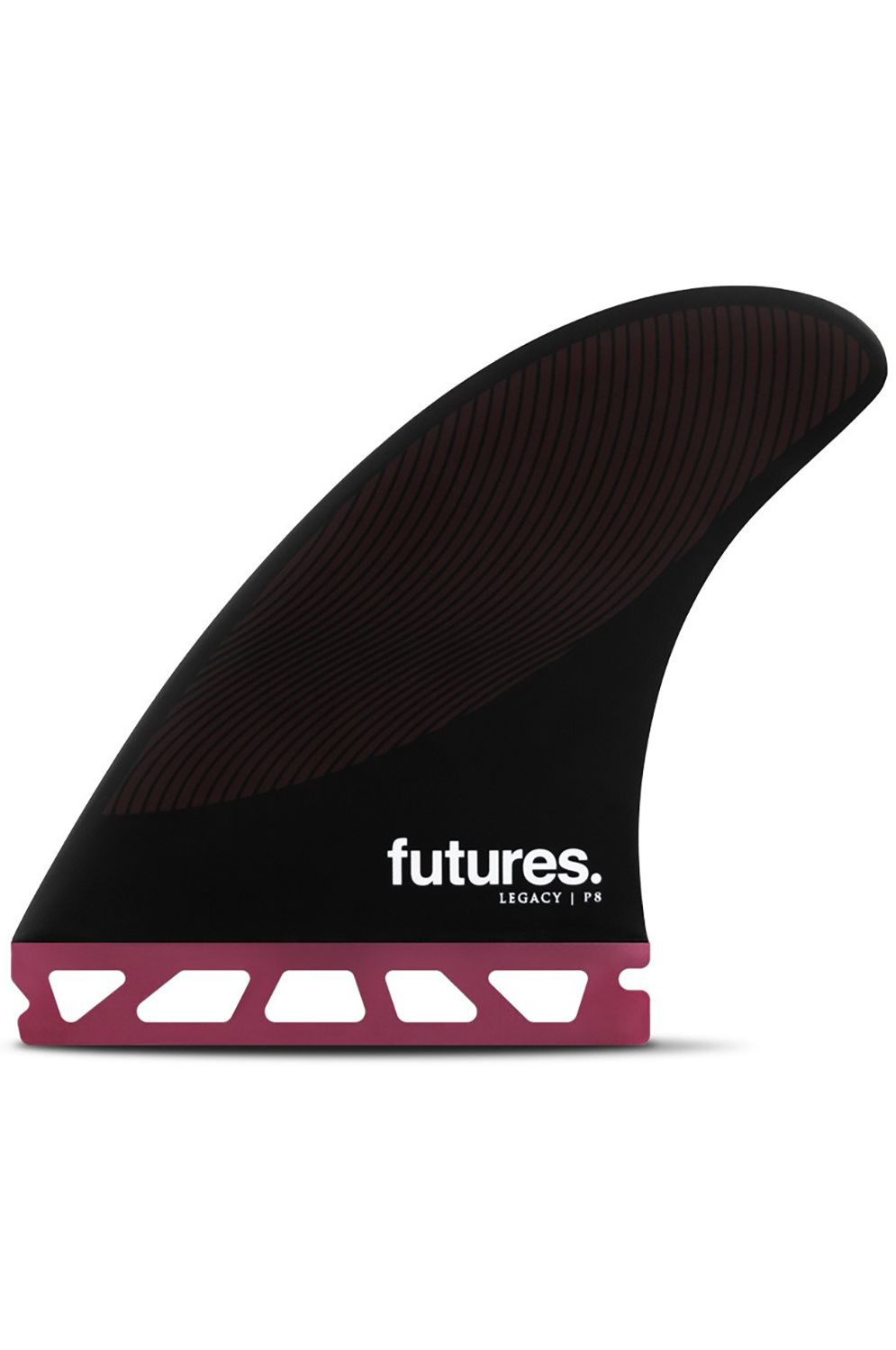 Quilha Future Fins P8 BURGUNDY/BLACK Tri Futures L