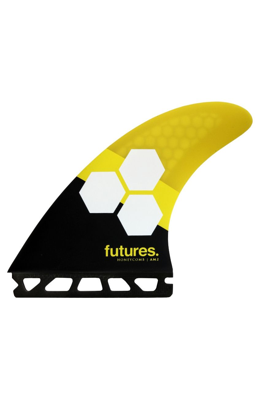 Quilha Future Fins AM2 YELLOW/BLACK Tri Futures L