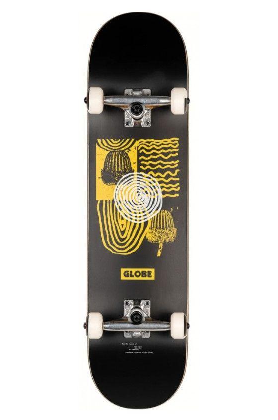 """Globe Skate 8"""" G1 FAIRWEATHER BOXED Black/Yellow"""