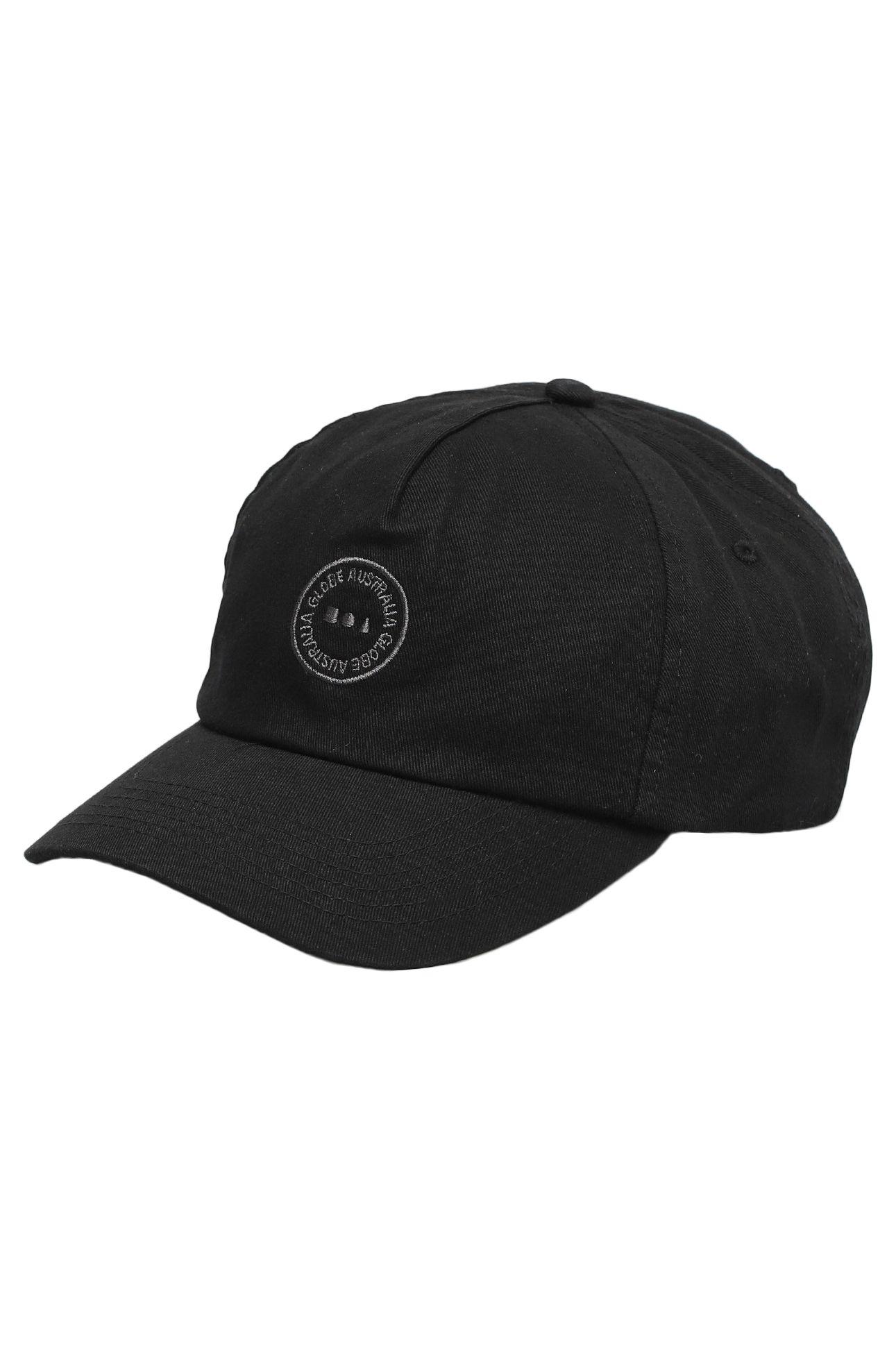 Bone Globe FULL CIRCLE CAP Washed Black