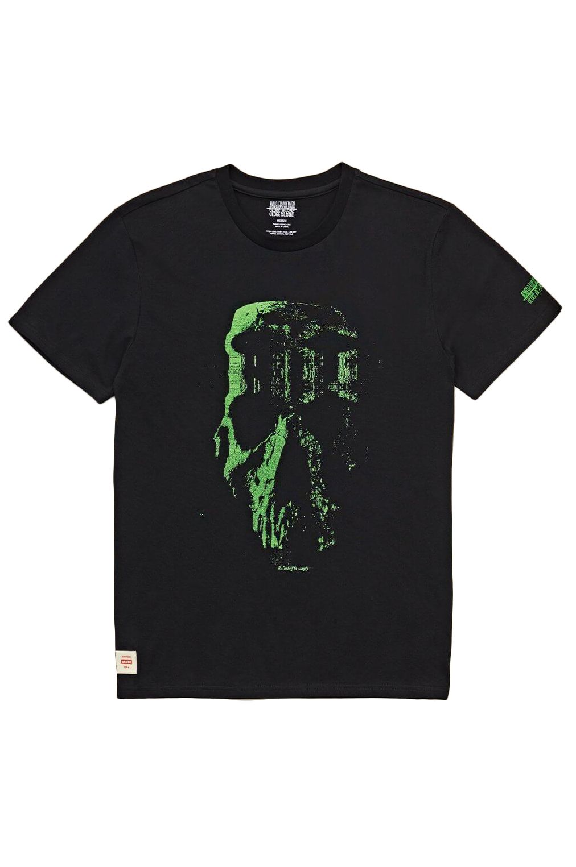 T-Shirt Globe REFUSE SKULL TEE Black