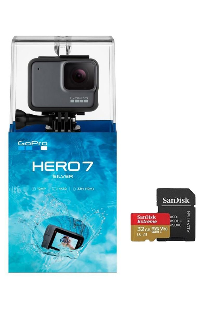 Camera GoPro HERO 7 SILVER + SD Card 32Gb Silver
