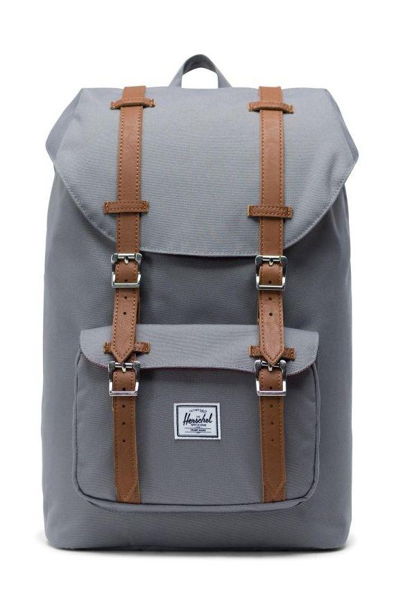 Herschel Backpack HERSCHEL LITTLE AMERICA MID-VOLUME Grey/Tan Synthetic Leather