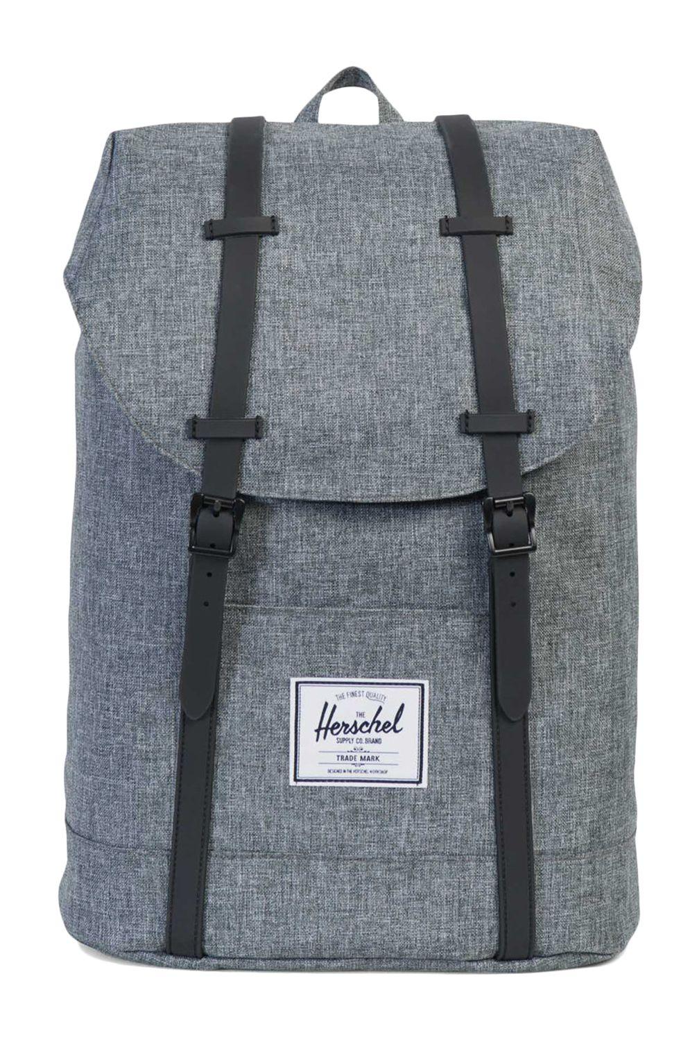 Herschel Backpack RETREAT Raven Crosshatch/Black