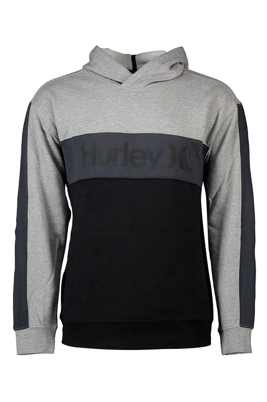 Sweat Capuz Hurley M BLOCKED PULLOVER FLEECE Dk Smoke Grey