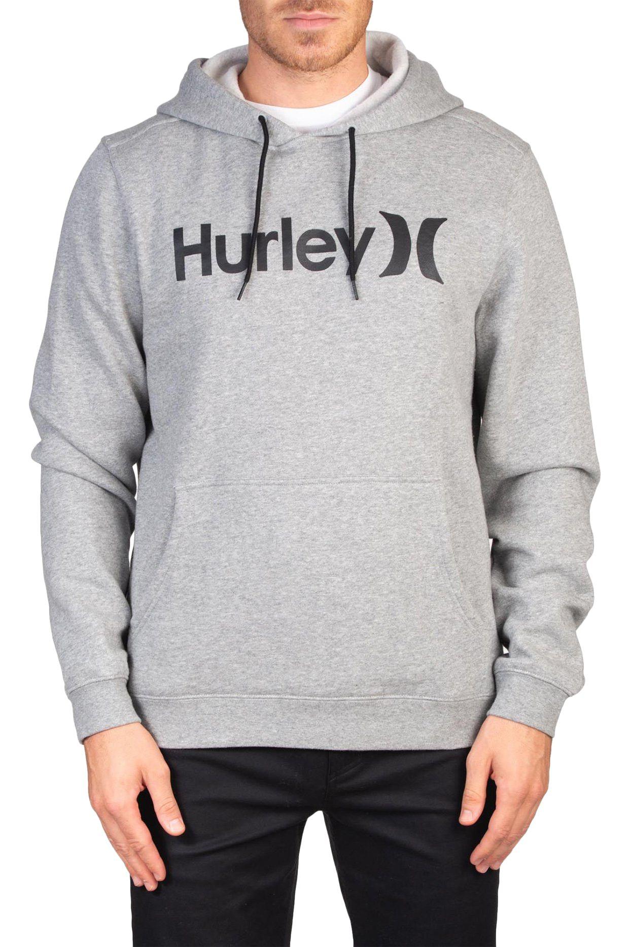 Hurley Sweat Hood M ONE&ONLY PULLOVER Dark Grey Heather