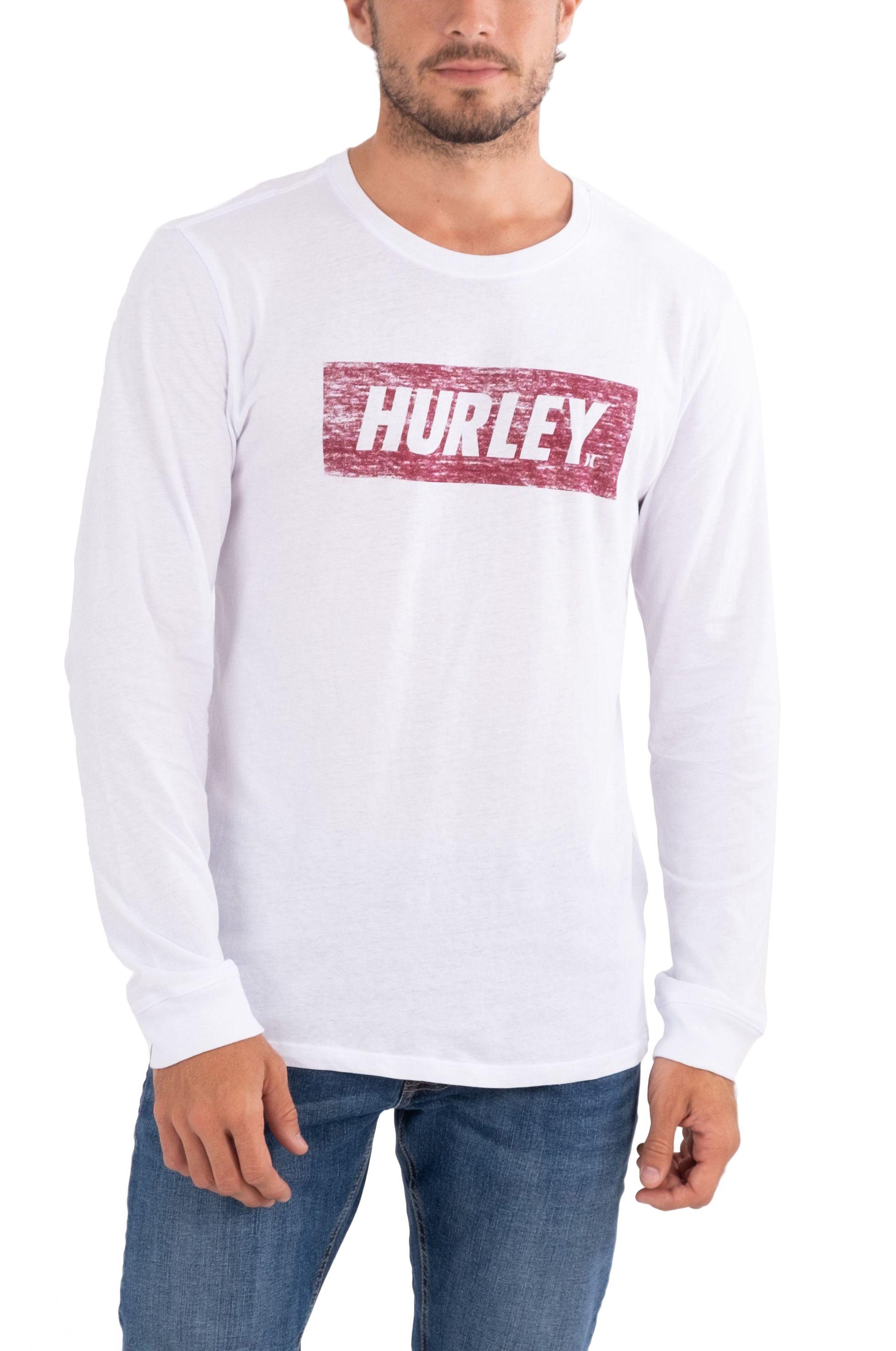 Hurley L-Sleeve M EVD WSH FASTLANE BX TEXTURE LS White
