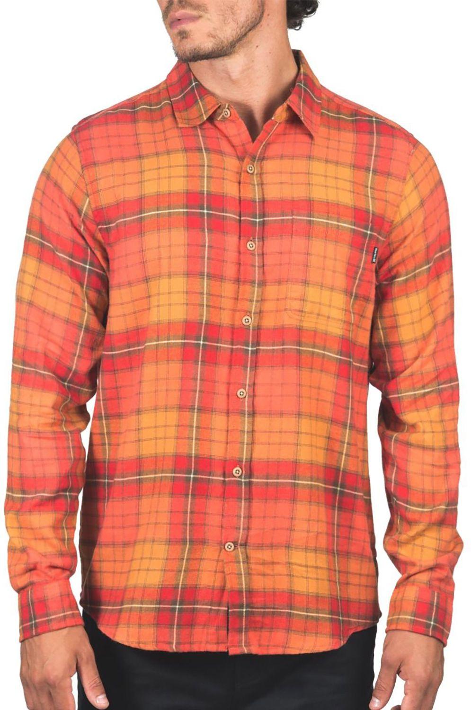 Camisa Hurley M PORTLAND FLANNEL LS Mantra Orange