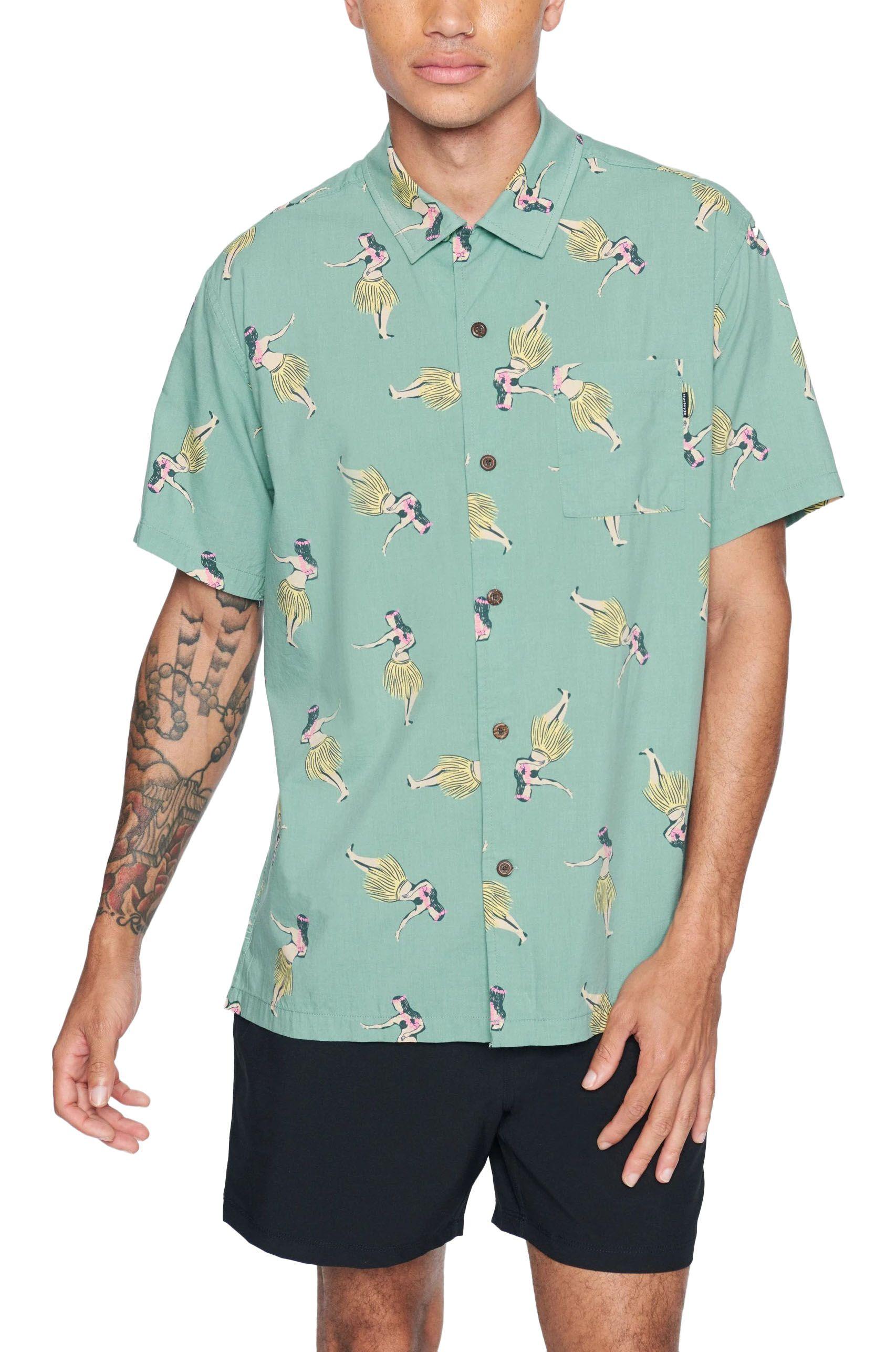 Hurley Shirt M PAU HANA SS Healing Jade
