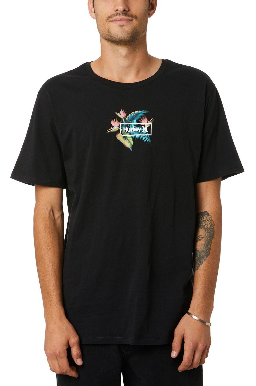 T-Shirt Hurley M BIRDS NEST S/S Black
