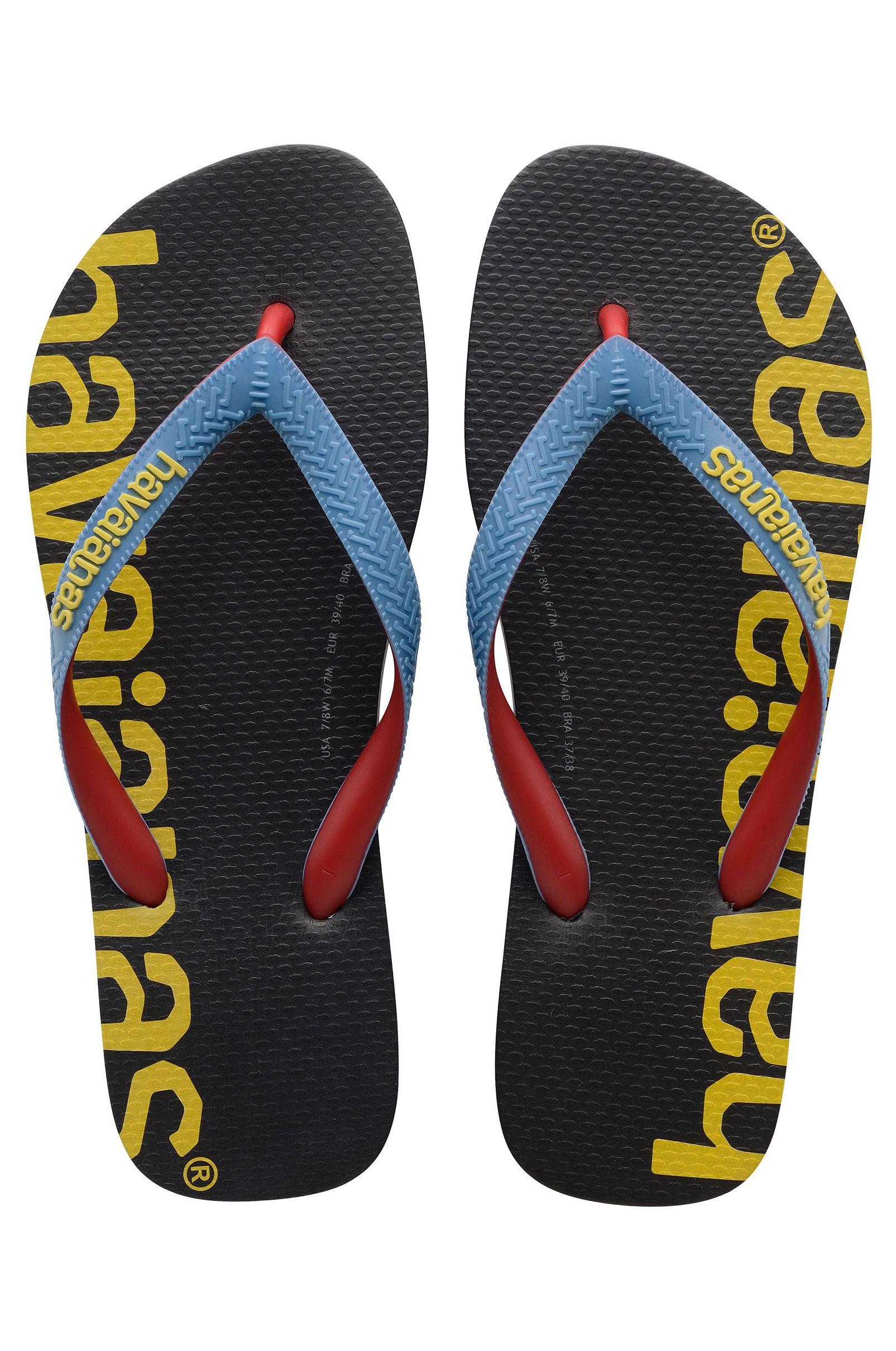 Havaianas Sandals TOP LOGOMANIA HIGHTECH Black