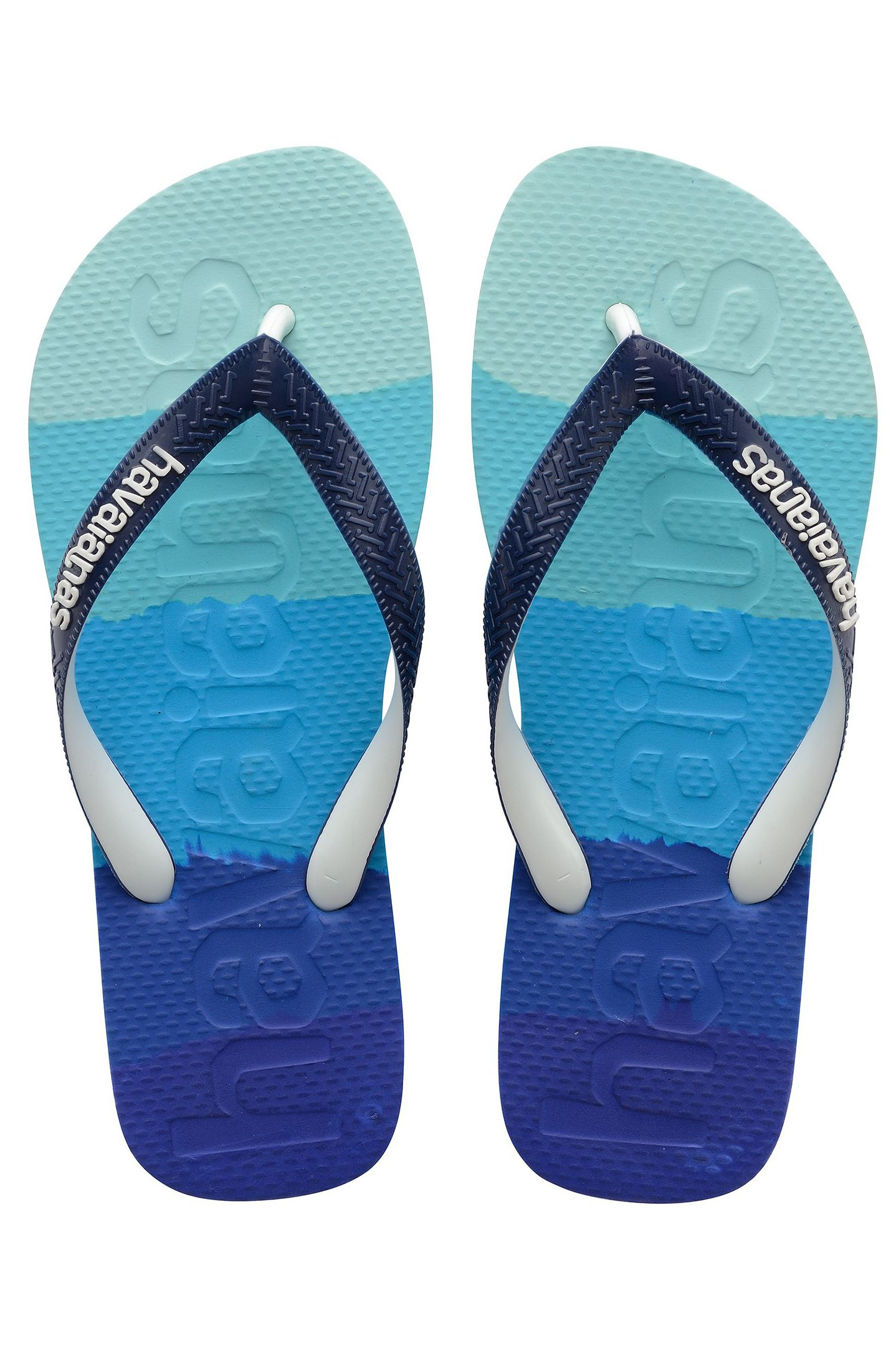 Havaianas Sandals TOP LOGOMANIA MULTICOLOR GRADIENT Gradient Marine Blue