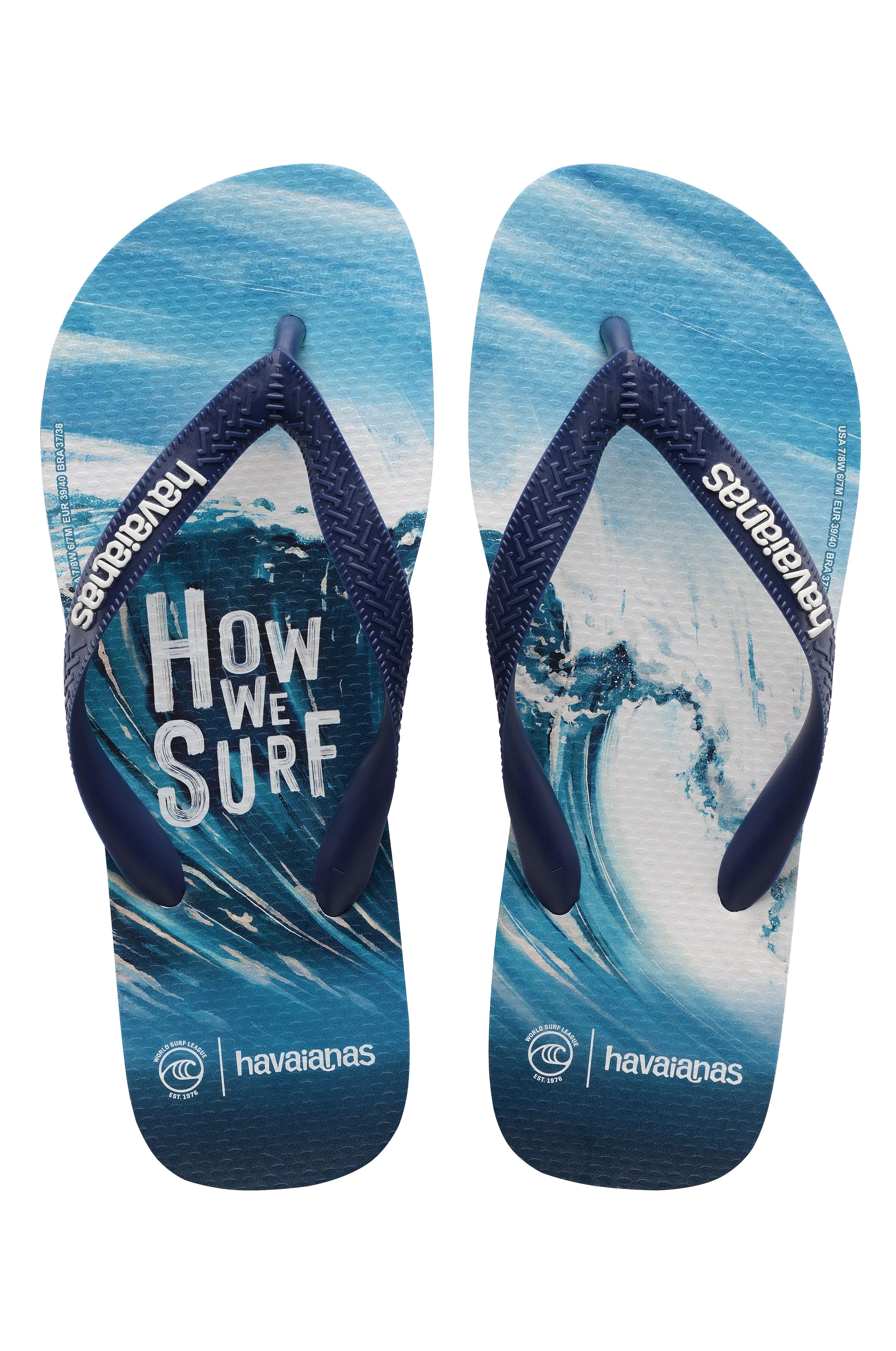 Havaianas Sandals TOP WSL HOW WE SURF Navy Blue