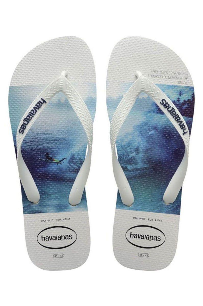 Chinelos Havaianas HYPE White/White/Blue
