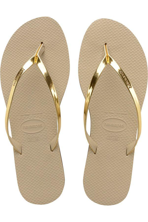 Chinelos Havaianas YOU METALLIC Sand Grey/Light Golden