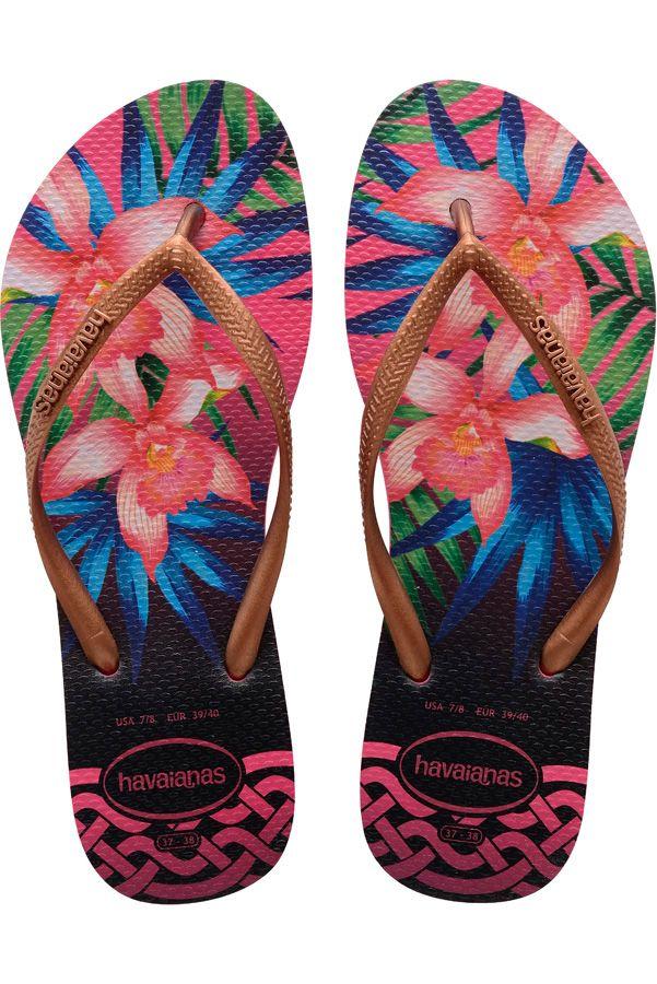 Chinelos Havaianas SLIM TROPICAL Rose