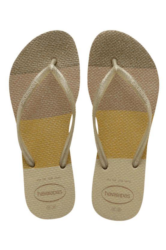 Chinelos Havaianas SLIM PALETTE GLOW Sand Grey