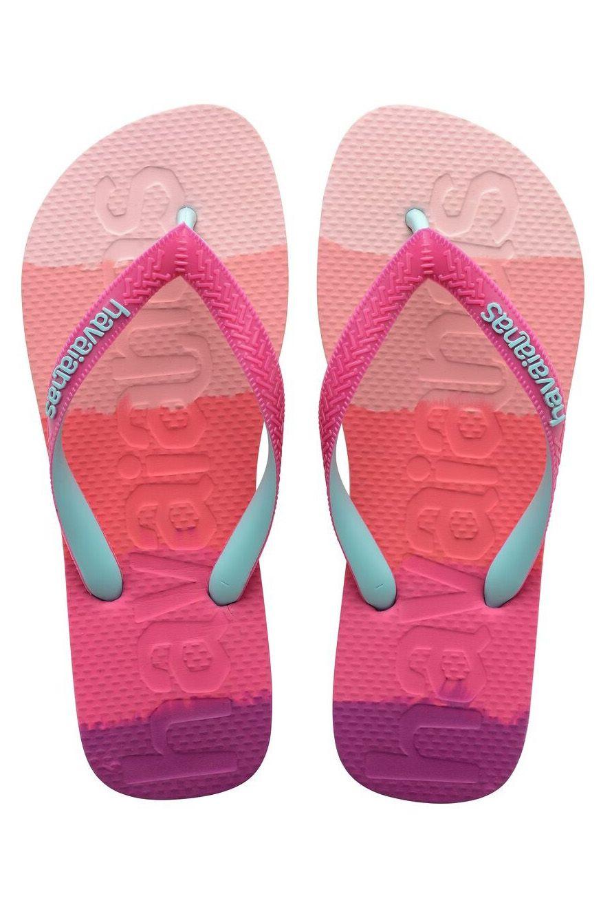 Havaianas Sandals TOP LOGOMANIA MULTICOLOR GRADIENT Gradient Pink Gum