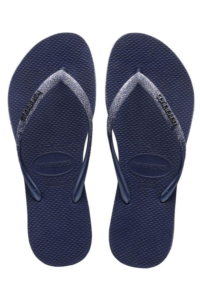 Havaianas Sandals SLIM SPARKLE II Navy Blue