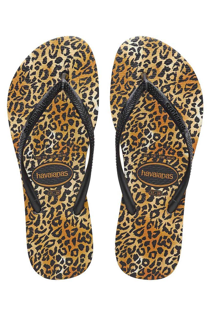 Havaianas Sandals SLIM LEOPARD Black/Black