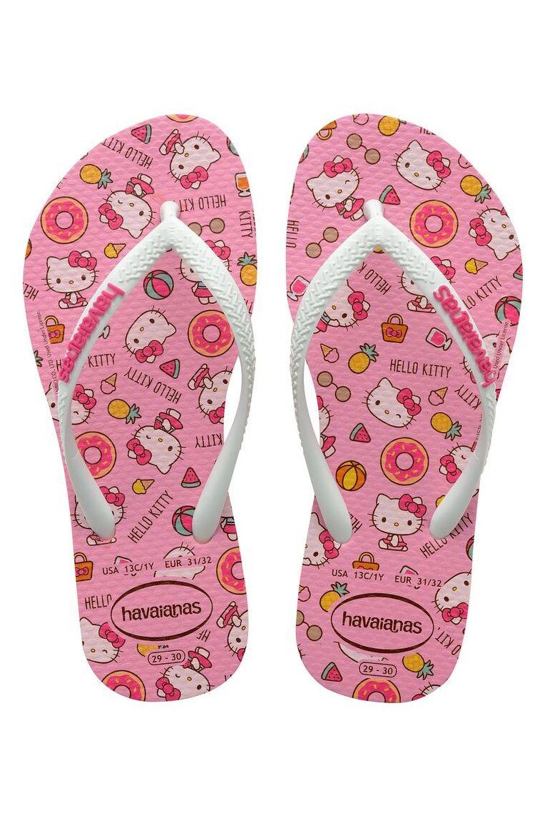 Chinelos Havaianas KIDS SLIM HELLO KITTY Macaron Pink