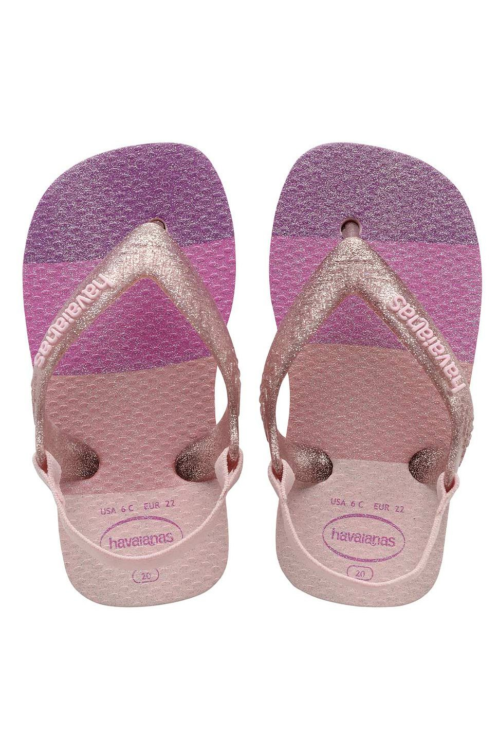 Chinelos Havaianas BABY PALETTE GLOW Candy Pink